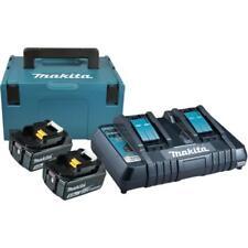 Makita 18v batería de repuesto (2x baterías 5.0ah) + doble cargador + makpac