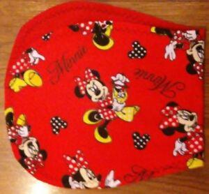 Minnie Mouse handmade burp cloth double flannel