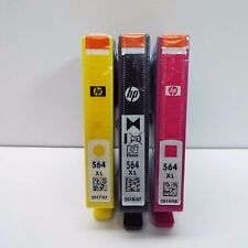 3 PACK NEW GENUINE HP 564XL BLACK YELLOW MAGENTA INK CARTRIDGE (LOOK DESC.) I500