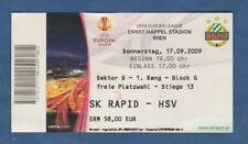 Orig.Ticket   Europa League  2009/10  SK RAPID WIEN - HAMBURGER SV  !!  SELTEN