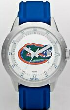 NEW Florida Gators Fossil Watch Mens Three Hand Date Silicone Li3089    *RARE*