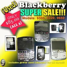 Lot Of 3 Blackberry Cell Phones