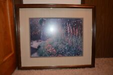 Claude Monet 1876 Impressionist artist Rounded Flower Bed framed Glass 38 x 31
