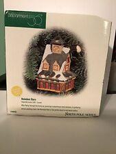 "Dept 56 Lighted Christmas Ornament ""Reindeer Barn"" #98762"