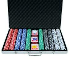 Texas Hold 'em Poker Chip Set 1000 Pieces - Multicoloured