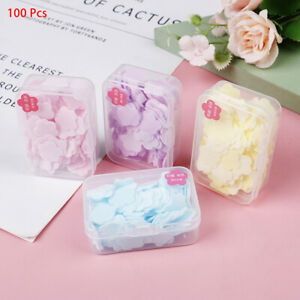 100Pcs Portable Hand Washing Paper Cleaning Soaps Bath Travel Scented Foam P5