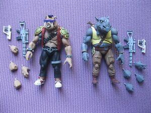 NECA Teenage Mutant Ninja Turtles Bebop and Rocksteady Figure Set loose lot