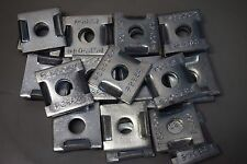 """Unistrut P2864 EG 1/2"""" Dimpled Square Washer Flat Plate Fitting Channel QTY 25"""