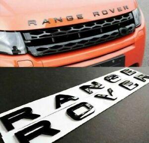 Scritta Logo Land Range Rover Anteriore Posteriore Evoque Sport Nero Lucido