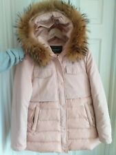 LADIES REAL FUR HOODED COAT size 40, Cost £120