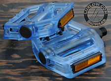 "Blue Iped Platform Bicycle Pedals 9/16""  BMX MTB FiXiE Track Road Bike Cruiser"