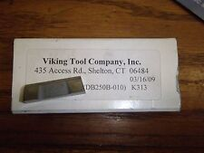 Viking Tool VDB 250B-010 K313 Dog Bone Grooving Cut Off Carbide Insert