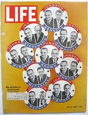 LIFE MAGAZINE MAY 8 1964 Campaign Buttons WWi Dodgers 50th BIRTHDAY ANNIVERSARY