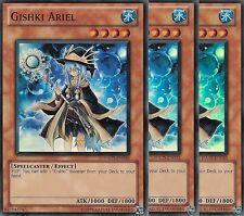 3 X YU-GI-OH: GISHKI ARIEL - SUPER RARE - HA05-EN035