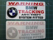 BMW Tracker Warning Adesivi tracking ANTI THEFT M3 M5 M1 1 3 5 Serie