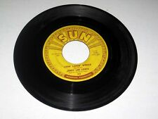 45 RPM Jerry Lee Lewis LIVIN' LOVIN' WRECK / WHAT'D I SAY Sun