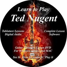 Ted Nugent Guitar TABS Lesson CD 36 Songs + Backing Tracks + BONUS!