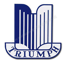 "TRIUMPH CAR MARQUE DIGITALLY CUT OUT VINYL STICKER. 3"" X 3"" OVERALL SIZE."