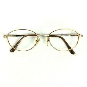 Laura Ashley Chestnut Eyeglasses Frames Gold Metal Oval 51 18 140
