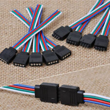 10Pcs 4Pin Male Female Connector Wires Cables for 3528 5050 SMD LED Strip Lights