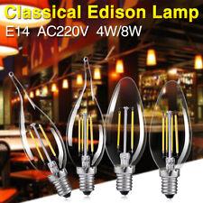 e14 4/8w 220v vogue filament retro led bulb candle flame light edison style lamp