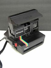 Polaroid Spirit Instant One Step 600 Camera Rainbow Stripe Untested
