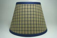 Country Primitive Navy Plaid Window Pane Homespun Fabric Lampshade Lamp Shade