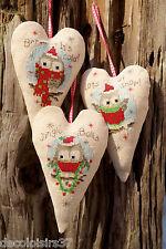 Vervaco  0147404  Cœurs décoratifs Chouettes de Noel  Point de Croix compté