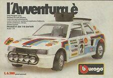X1201 BBURAGO - PEUGEOT 205 T16 Safari - Pubblicità 1986 - Advertising