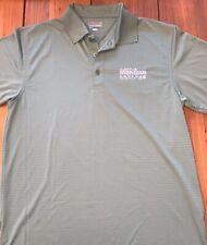 Medium Men's Subaru Ironman Canada Sage Green Polo Shirt Zorrel 100% Polyester