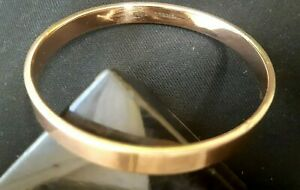 ART DECO 9CT ROSE GOLD SOLID HEAVY SILVER LINED  BANGLE BRACELET CIRCA 1920s