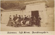 Berchtesgaden Mine de sel Vintage albumine Petit format 5,7x10 cm