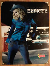 Music Poster Promo Madonna Cowgirl in Denim ~ Tower Records