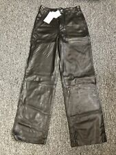 Zara Women Authentic Leather Pants Black 2154/251 NWT - Size Small