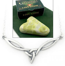 Irish Connemara Marble Love Stone & Trinity Celtic Necklace - J.C. Walsh & Sons