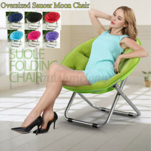 Oversize Moon Chair Seat Stool Saucer Soft Comfort Folding Home Living Room