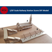 TMW 1/87 N Gauge Railway Station Laser Cut Wood Kits