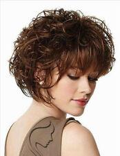 sexy damen Gelockt dunkelbraune haare, perücken, natürliche frauen + perücke