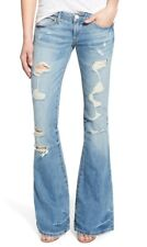 "NWT TRUE RELIGION ""Karlie"" Womens Factory Destroyed Bell Bottom Jeans Size 26"