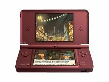 VGC Original Nintendo DSi XL Wine Red Handheld Console for Video Games Boxed 09o