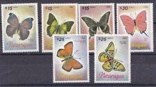 Nicaragua 1986 Posta aerea farfalle 1165-70 MHN