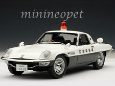 AUTOart 75935 MAZDA COSMO SPORT JAPANESE POLICE CAR 1/18 DIECAST BLACK WHITE