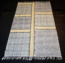Block Print Fabric Ikat Blue Floral 3.5x6 Feet Best Home Choice Rug