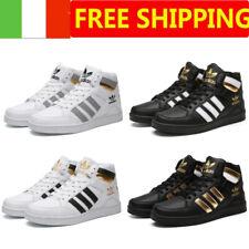 Uomo Donna Sneakers Alto Top Ginnastica Scarpe da Corsa Classico Formatori 35-45