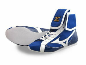 Authentic Mizuno Boxing Shoes Short Blue × White made in JAPAN BTO F/S NEW JPN