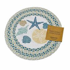 Easy Living Nautical Braid Seashells Starfish Single Cotton Placemat Centerpiece