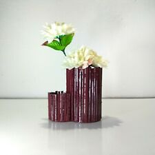 Handmade Unique Natural Bamboo Flower Vase Pen Holder With Flowers for Free