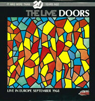 2 LP 33 The Doors ‎The Live Doors Live In Europe September 1968 BLUE VINYL 1988
