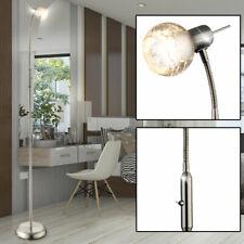 LED Wohn Ess Zimmer Stand Leuchte rostfarben Spot Strahler flexo Arm Steh Lampe