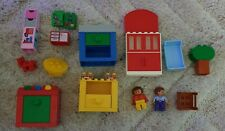 Rare Vintage Lego Duplo Kitchen Units, Table and Chair and Vintage Figures